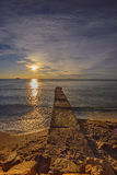 Sunrise over the sea. Royalty Free Stock Photo