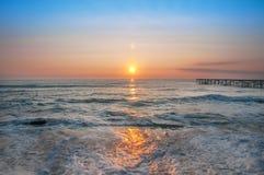 Sunrise over the sea. Sunrise over the calm sea Royalty Free Stock Images