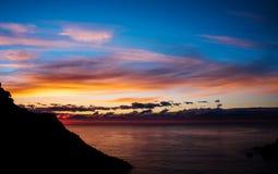 Sunrise over the sea stock photography