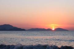 Sunrise. Over sea in Crimea Stock Photography