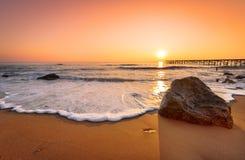 Sunrise over sea. Early morning, sunrise over sea Royalty Free Stock Photos