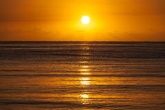 Sunrise over Sea Horizon Royalty Free Stock Photos