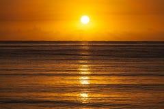 Sunrise over Sea Horizon royalty free stock photos