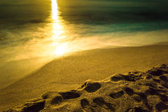 Sunrise over sea. On July morning Royalty Free Stock Images