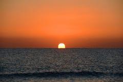 Sunrise over the Sea, Key West, Florida Royalty Free Stock Images