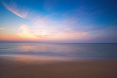Sunrise over sea, long exposure Royalty Free Stock Photos