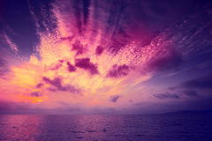 Sunrise over the sea Royalty Free Stock Images