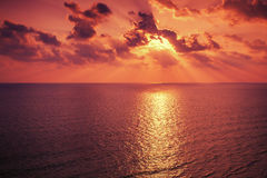Sunrise over sea Royalty Free Stock Photo