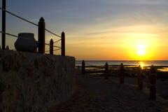 Sunrise over the sea. Morning seascape Stock Photography