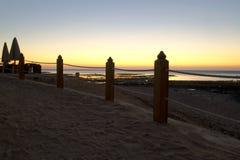 Sunrise over the sea. Morning seascape Royalty Free Stock Photo