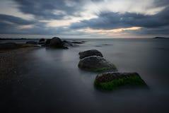 Sunrise over the sea, near Burgas, Bulgaria Stock Photos