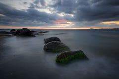 Sunrise over the sea, near Burgas, Bulgaria Stock Image