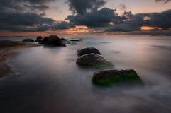Sunrise over the sea, near Burgas, Bulgaria Stock Photo