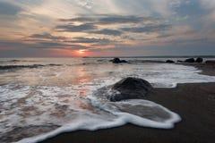 Sunrise over the sea, near Burgas town, Bulgaria. Magnificent sunrise over the sea, near Burgas town, Bulgaria Stock Photo