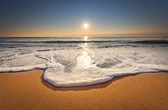 Sunrise over the sea. royalty free stock images