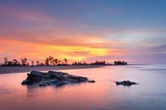 Sunrise Over The Sea. Photo taken at Vietnam ese Stock Image