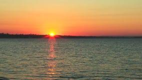 Sunrise over the sea stock video