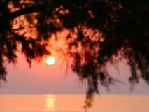 Sunrise. Over the sea, Rhodes Island, Greece royalty free stock image
