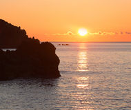 Sunrise over the sea and rocks Royalty Free Stock Photo