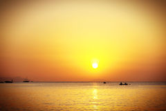 Sunrise over the sea. In summer Stock Photography