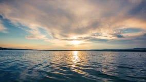 Sunrise over the sea stock video footage