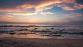 Sunrise over the sea stock footage