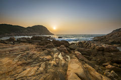 Sunrise over Shek O beach, Hong Kong Royalty Free Stock Photo