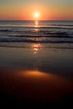 Sunrise over Shore. Sunrise over a morning ocean Stock Images