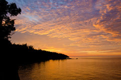 Sunrise over shovel point Royalty Free Stock Image