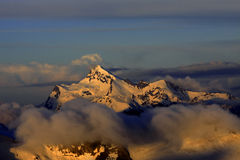Sunrise over Shtavler Peak Stock Photo