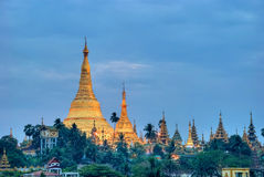 Sunrise over the Shwedagon Royalty Free Stock Photography
