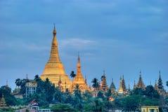 Sunrise over the Shwedagon Royalty Free Stock Photography