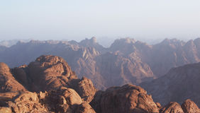 Sunrise over Sinai mounts Royalty Free Stock Photography