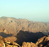 Sunrise over Sinai mounts Royalty Free Stock Image
