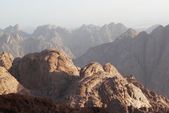 Sunrise over Sinai mounts Stock Photography