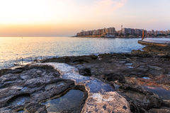 Sunrise over Sliema. Sunrise over the City of Sliema on Malta Royalty Free Stock Photography