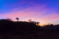 Sunrise over small village in Ethiopia Stock Images