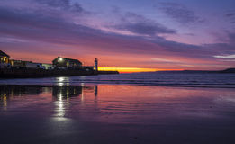 Sunrise over South Bay, Scarborough Royalty Free Stock Photo