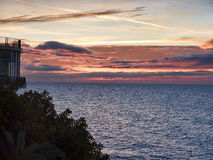 Sunrise over the Spanish resort of Nerja on the Costa del Sol Stock Photos