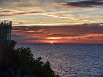 Sunrise over the Spanish resort of Nerja on the Costa del Sol Royalty Free Stock Images