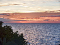 Sunrise over the Spanish resort of Nerja on the Costa del Sol Stock Image