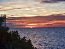 Sunrise over the Spanish resort of Nerja on the Costa del Sol Stock Photo