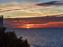 Sunrise over the Spanish resort of Nerja on the Costa del Sol Stock Images