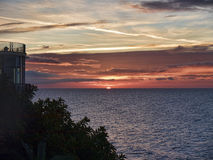 Sunrise over the Spanish resort of Nerja on the Costa del Sol Royalty Free Stock Photo