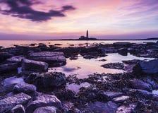 Sunrise over St Marys Lighthouse Royalty Free Stock Photo