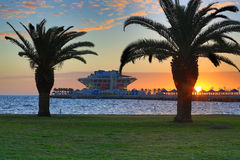 Sunrise Over St. Petersburg Pier Royalty Free Stock Image