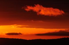 Sunrise over swedish widerness, flatruet, sweden Stock Photos