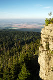 Sunrise over Table Mountains National Park in Poland Stock Photography