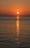 Sunrise over Tampa Bay in Saint Peterburg, Florida. Royalty Free Stock Image