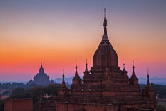 Before sunrise over temples of Bagan Stock Image